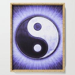 Yin & Yang - Ice Blue Light Serving Tray
