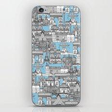 Paris toile cornflower blue iPhone & iPod Skin