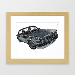 Old School Beamer Framed Art Print