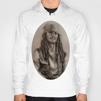 jack sparrow Hoodies featuring Captain Jack Sparrow by Svartrev