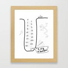 I dig... Framed Art Print