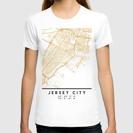 JERSEY CITY NEW JERSEY STREET MAP ART T-shirt