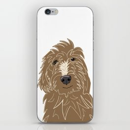 A doodle of a Golden Doodle iPhone Skin