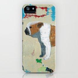 English Bulldog Abstract Art iPhone Case
