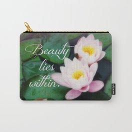 Beauty Lies Within, Water Lilies Photo Carry-All Pouch