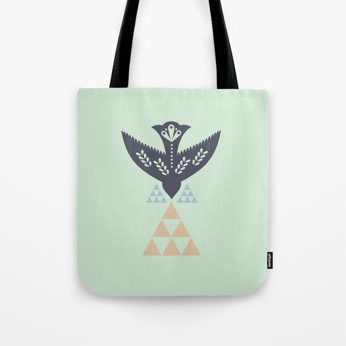 Green Bird Tote Bag