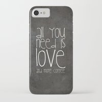 coffee iPhone & iPod Cases featuring COFFEe by Monika Strigel®