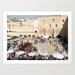 Temple Mount Gathering, Old City of Jerusalem Art Print