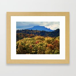 A Grand Blue Ridge View Framed Art Print