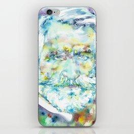 GIUSEPPE VERDI - watercolor portrait iPhone Skin