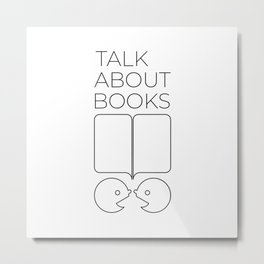 Talk About Books (Outline) Metal Print