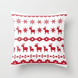 Christmas element Throw Pillow
