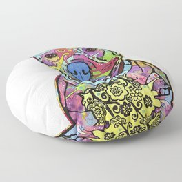 Colourful Pit Bulls, Pit Bulls Gift Floor Pillow