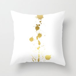 Golden abstract #2 Throw Pillow