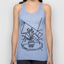 Flowers on the window -coloring Unisex Tank Top