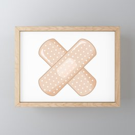 Get Well Bandaid Framed Mini Art Print