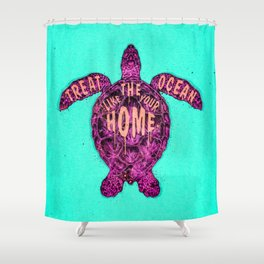 ocean omega (variant) Shower Curtain