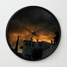 In the shadow of the sunset Wall Clock