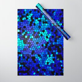 STAINED GLASS BLUES Wrapping Paper