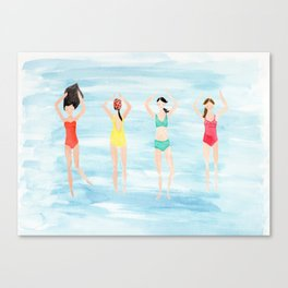 summer swimmers Canvas Print