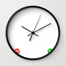 running is calling and i must go t-shirt for christmas Wall Clock