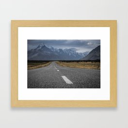 Mount Cook Road 2 Framed Art Print