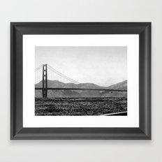 Golden San Fran Framed Art Print