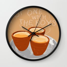 Hot One With the Boys Wall Clock