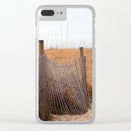 Wooden Sand Fence Clear iPhone Case