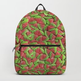 Sour Watermelon Gummy Candy Photo Pattern Backpack
