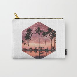 SUNSET PALMS- Geometric Photography Carry-All Pouch