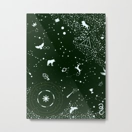 Emerald Green Pattern Design Abstract Home Decor Metal Print