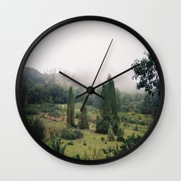 (fog meadow) Wall Clock