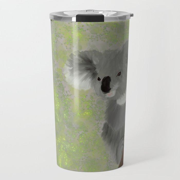 Koala Bear Hanging In There Travel Mug