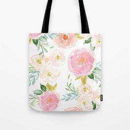 Sweet Pink Blooms (Floral 02) Tote Bag