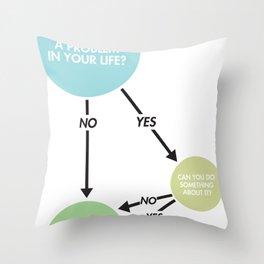 Zen Flowchart Throw Pillow