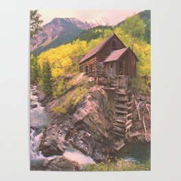 Crystal River Mill near Marble, a Colorado Icon Poster
