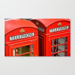 Red phone booth London Canvas Print