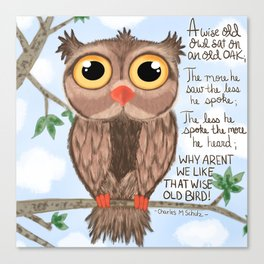A wise old owl Canvas Print