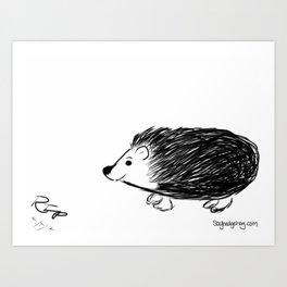 Hedgehog Sketch #2 Art Print