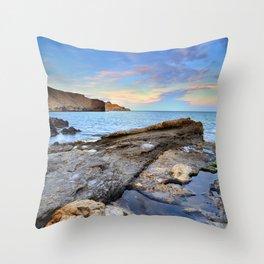 """""""Volcanic sea"""". Cabo de Gata. Throw Pillow"""