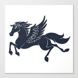 Illustration of blue pegasus Canvas Print