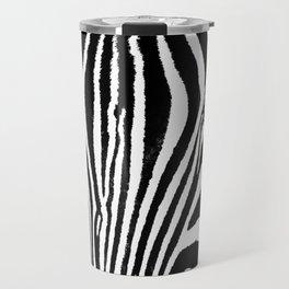 Zebra close up Travel Mug