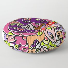 Lotus flower Girl Floor Pillow