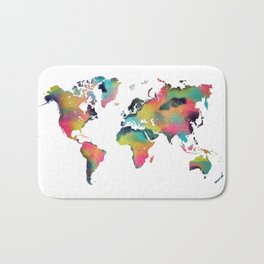 world map 3 Bath Mat