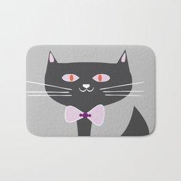 cool black cat Bath Mat