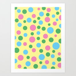 Colorful circles pattern Art Print