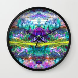 Crystal Mountains One Wall Clock