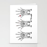 thrones Stationery Cards featuring The Plastic Thrones by Helena McGill
