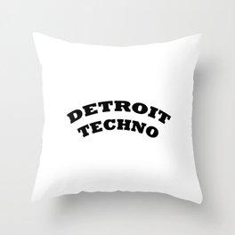 Detroit Techno Throw Pillow
